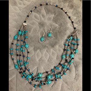 Handmade Turtle Necklace & Earrings